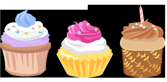 カップケーキ イラスト