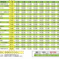中部ルート(時刻表)