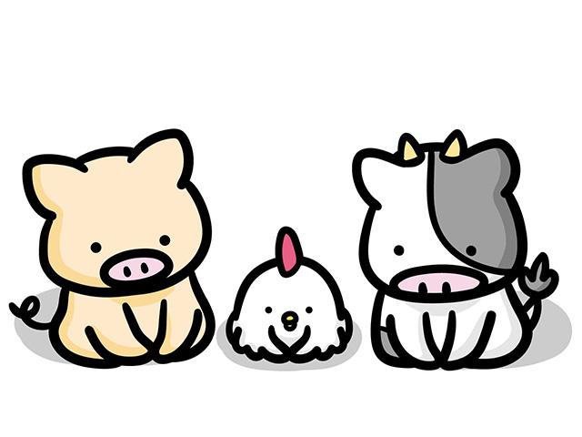 謝る動物たち 画像